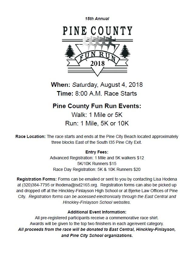 pine county fun run pine county fair